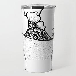 Amphora - White Black Travel Mug