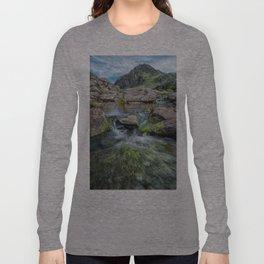 Tryfan Mountain Stream  Long Sleeve T-shirt