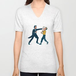 Abe Lincoln VS Captain Kirk Unisex V-Neck