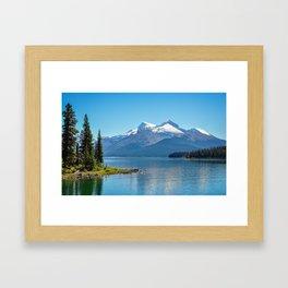 Morning at Lake Maligne Framed Art Print