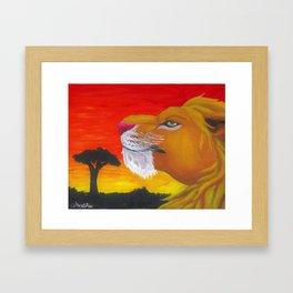 Lion Box Framed Art Print