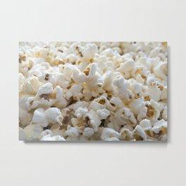 Popcorn Close Up Metal Print
