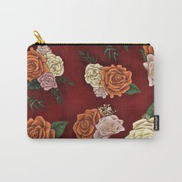 Red luxury flowers Carry-All Pouch