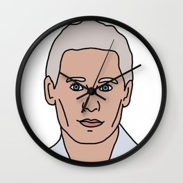 Jared Leto During His White Hair Phase Wall Clock