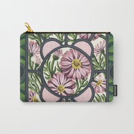 Stained Glass Daisies Carry-All Pouch
