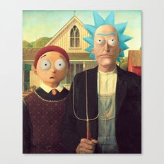 Meanwhile in a parallel universe - Rick and Morty Canvas Print
