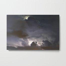 Night Explosions - V03 Metal Print