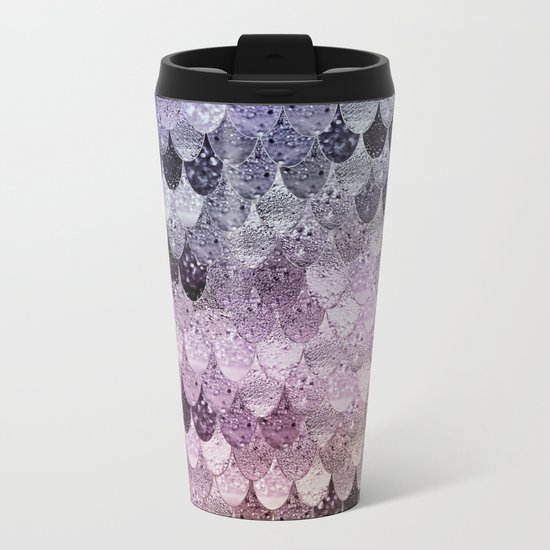 SUMMER MERMAID - PURPLE RAINBOW Metal Travel Mug