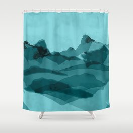 Mountain X 0.1 Shower Curtain