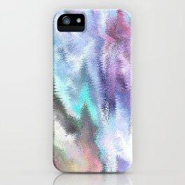Vibrating Glitch Pastels iPhone Case