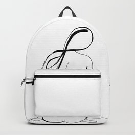 Woman Line Drawing Backpack