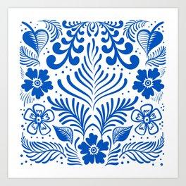 Mexican Folk Floral Ornaments Art Print