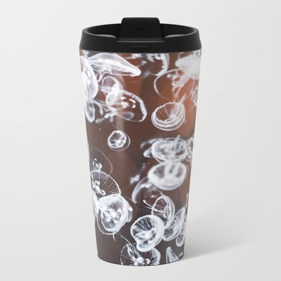 Electric Jelly fish Metal Travel Mug