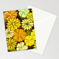 Abstract #417 Flower Power #5 Mellow Yellow Stationery Cards