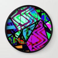 honeycomb Wall Clocks featuring Honeycomb by Sarah Bagshaw