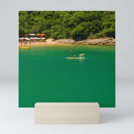 Beach in Buzios, Rio de Janeiro (Brasil) Mini Art Print
