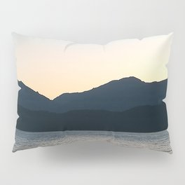 Sunset and Crescent Moon over the Water Pillow Sham