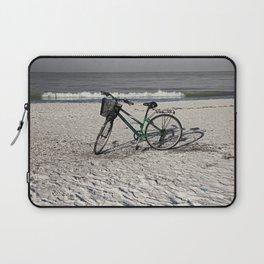 Bike on Barefoot Beach Laptop Sleeve