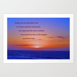 """""""Moonstone Beach Moment"""" with poem: And Counting Art Print"""