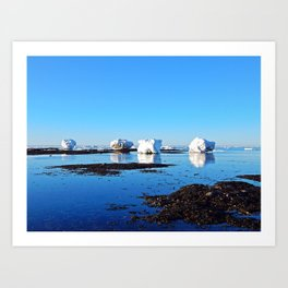 Winter on the Saint-Lawrence Art Print