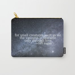 Carl Sagan and the Milky Way Carry-All Pouch