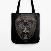 ape Tote Bags featuring Ape by Mel McIvor