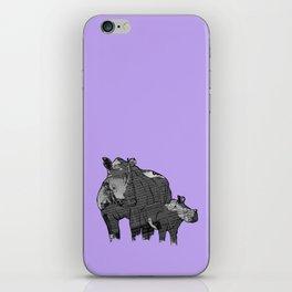 Newspaper Rhinoceros iPhone Skin