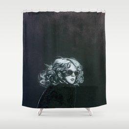 Little Sips - A Portrait of Drew Barrymore Shower Curtain