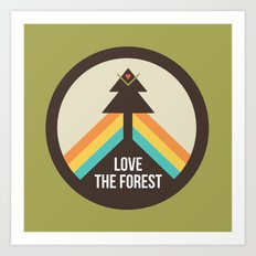 For the Love of the Forest Art Print