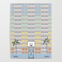Choi Hung Estate, Wong Tai Sin District, Kowloon, Hong Kong Basketball Court Poster