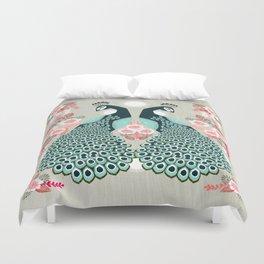 Peacocks by Andrea Lauren  Duvet Cover