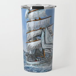 sealing boat Travel Mug