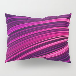 Pink and Purple Burst Wave. Abstract Strands Pillow Sham