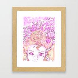 Sew Tools Girl Framed Art Print