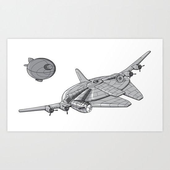 Centenium Falcon Art Print