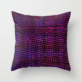 Screened violet Throw Pillow
