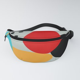 Red Black Blue Yellow Abstract Fanny Pack