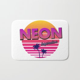 Neon inspiration 80s 90s style Bath Mat