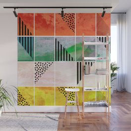 Mosaic Abstract coral Wall Mural
