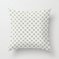 flower pattern Throw Pillows featuring Flower pattern by Yasmina Baggili