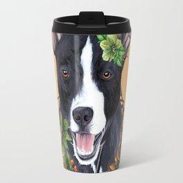 Flower dog Travel Mug