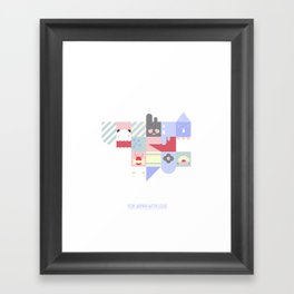 For Japan with love 2 Framed Art Print