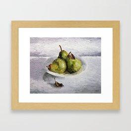Three Pear Still Life Framed Art Print