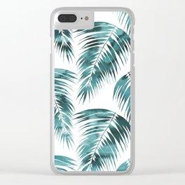 Maui Palm Leaf 2 green Clear iPhone Case