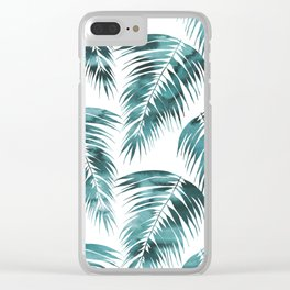 Maui Palm Leaf 2 green Clear iPhone Case