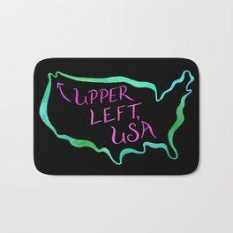 Upper Left, USA - Neon Bath Mat