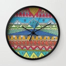 Ethnic Pattern Wall Clock