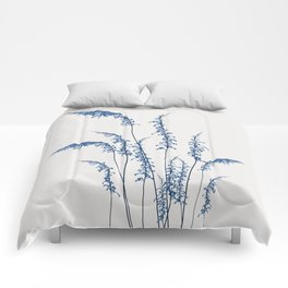 Blue flowers 2 Comforters