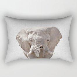 Elephant - Colorful Rectangular Pillow