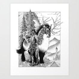 Thunder Rider Art Print